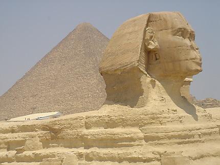 Le sphinx et la pyramide de Giseh