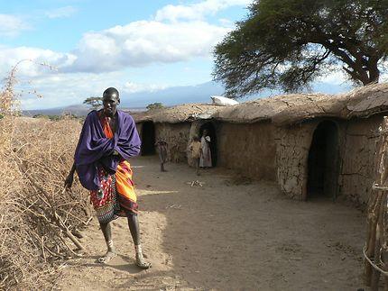 Masaï dans son village