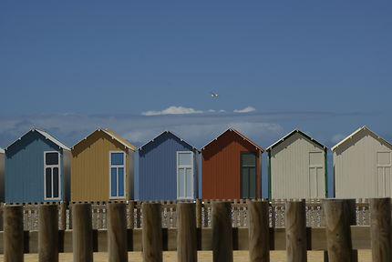 Cabines colorées à Cayeux-sur-Mer