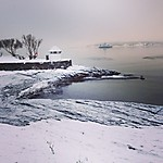 Le fjord d'Oslo sous la neige