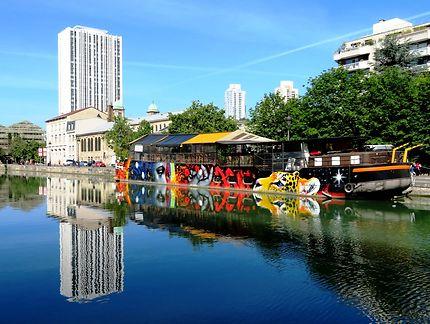 Canal de l'Ourcq à Paris