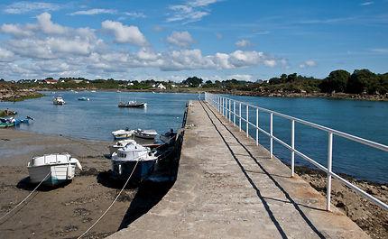 Le port d'Étel en Bretagne