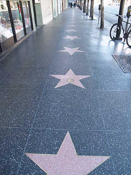 Une toute petite partie du Walk of Fame
