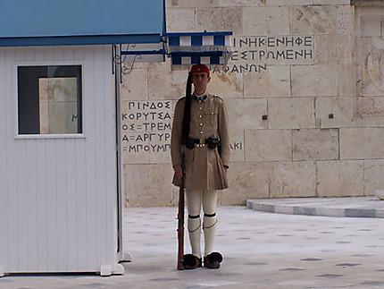 Garde grec au parlement