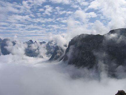 Mer de nuages sur la Vanoise