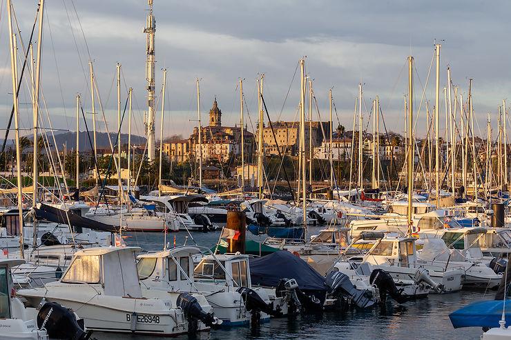 Hendaye : port de plaisance et ancien port de Caneta