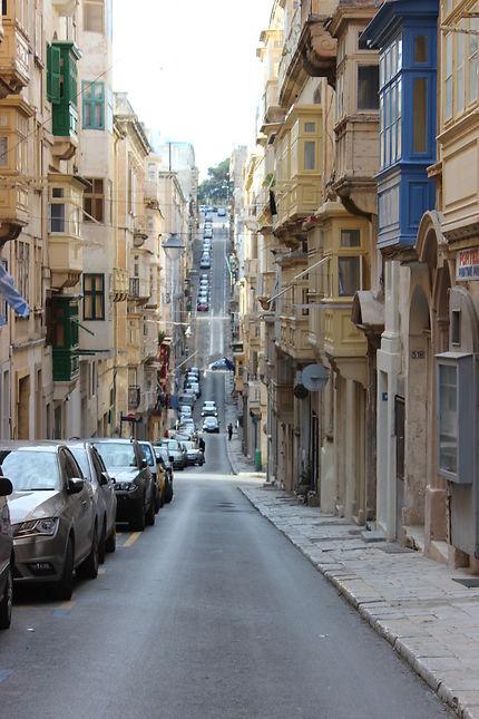 Route traversant Malte