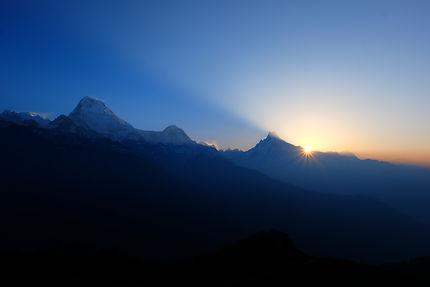 Lever du soleil au Népal