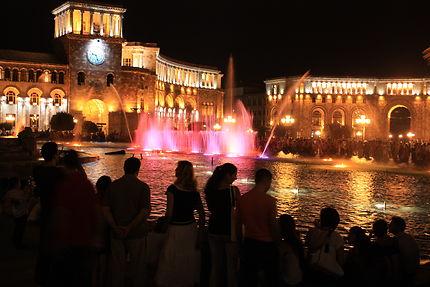 Place de la République illuminée
