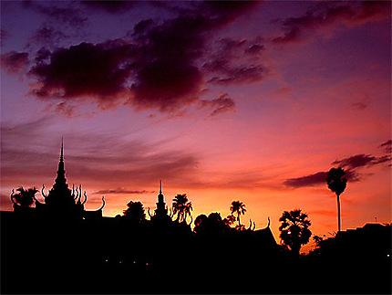 Coucher de soleil sur P.Penh