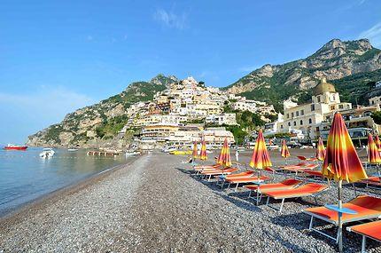 Plage de Positano en Italie