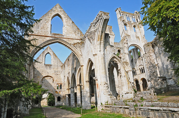 Jumièges, l'abbaye romantique