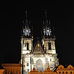 Notre-Dame-de-Týn de nuit