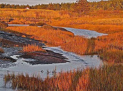 Quebec-Canada-ile Verte à l'automne-sunset