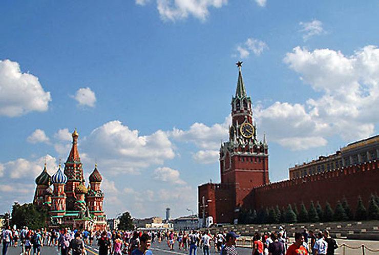 La Place Rouge et le Kremlin