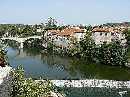 Ruoms, vue sur le pont de l'Ardèche