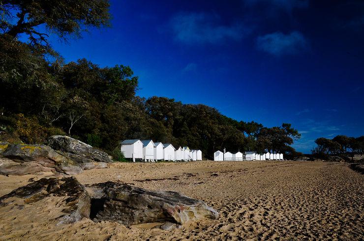 Les cabines de plage de Noirmoutier-en-l'Île