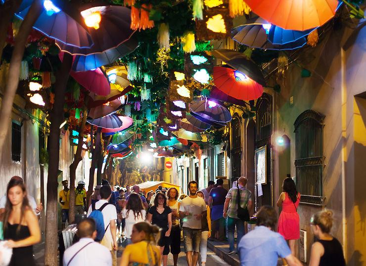 Nuit de fiesta à Barcelone