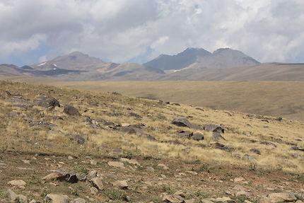 Sur le mont Aragats