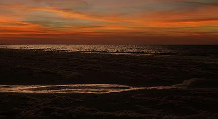 Crépuscule à la plage de Renesse (NL)
