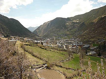 Vu sur Andorre la Vieille