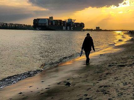 Plage de Blankenese : Hambourg,porte sur le monde