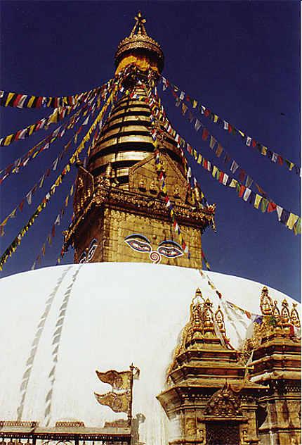 le stoupa de Swayambunath