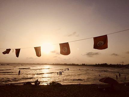 Coucher de soleil sur Hammamet