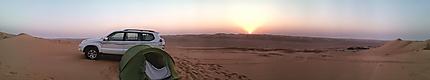Bivouac au dune de sable Oman