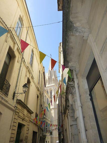 Fanions colorés, à Montpellier