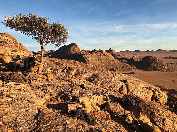 Sunset à Aus, Namibie