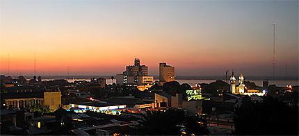Coucher de soleil Corrientes Capital