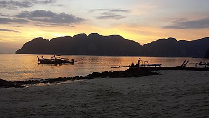 Coucher du soleil sur Kho Phi Phi