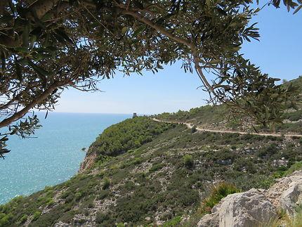 Route à Peñíscola, Espagne