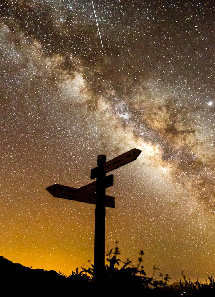 Nuit étoilée, Parc de la Caldera de la Taburiente, La Palma