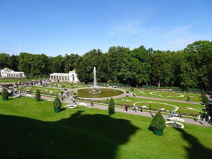 Vue sur le parc du Château de Peterhof