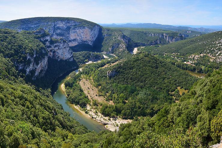 Les gorges de l'Ardèche, merveilles de la nature
