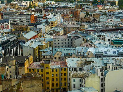 Sur les toits de Riga