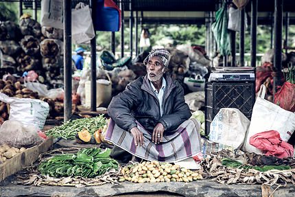 Marché Anuradhapura au Sri Lanka