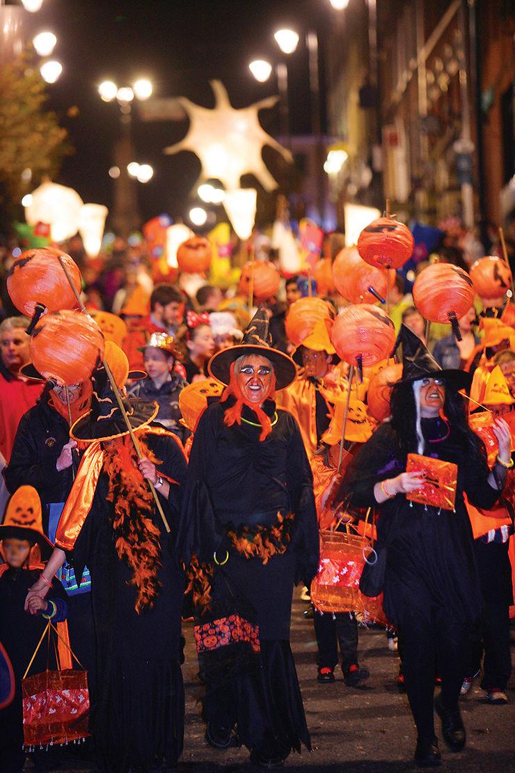 Festivités d'Halloween de l'Irlande à Manhattan