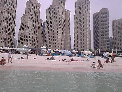 Plage du quartier de Dubaï Marina