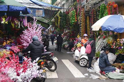 Dans le centre d'Hanoï, quartier des fleurs