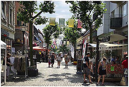 Une rue à Kristianstad