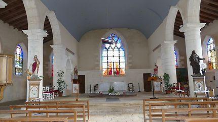 Intérieur de l'église d'Hiers-Brouage