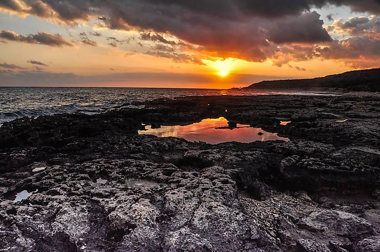 Coucher de soleil à Playa Cazonal