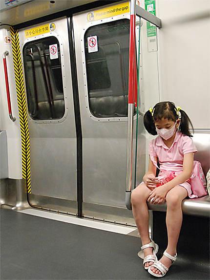 Fin de journée dans le métro