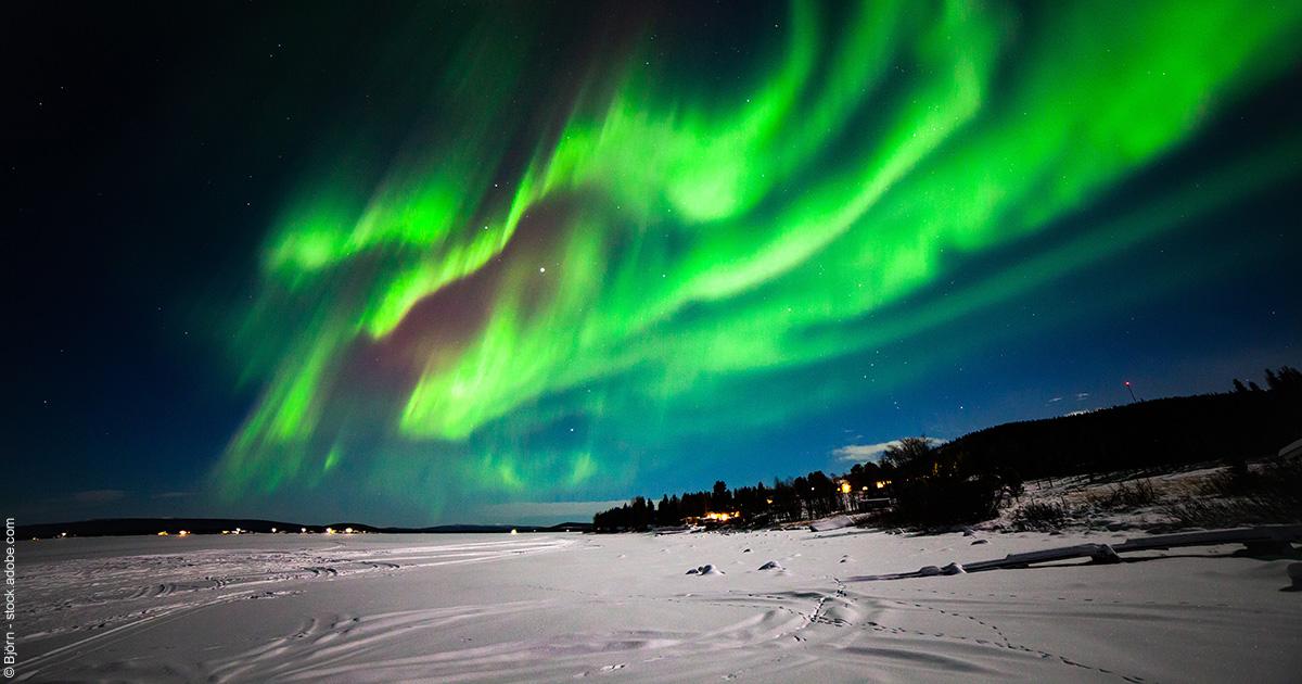 Suède : la Laponie en hiver, sous les aurores boréales