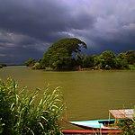 Don Det 4000 îles ciel orageux et arbre ensoleillé