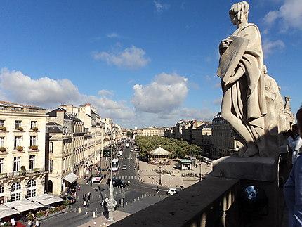 Sur la terrasse du Grand Théâtre de Bordeaux