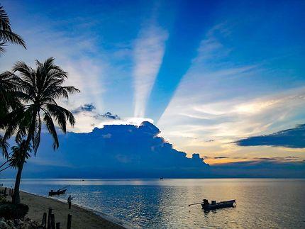 Coucher de soleil à Fisherman Viilage